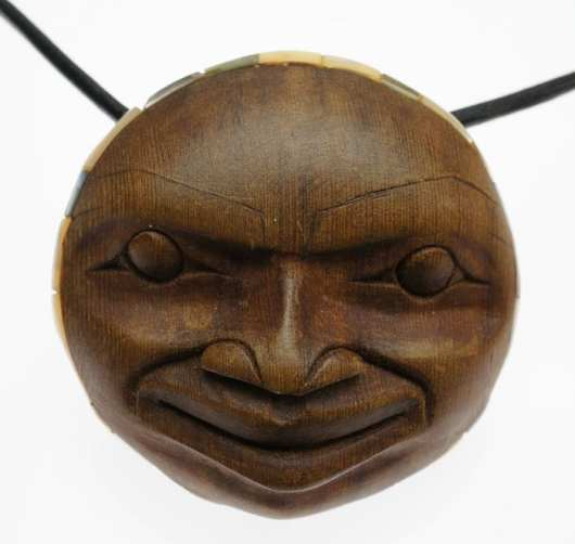 Tom Eneas cedar Moonface pendant