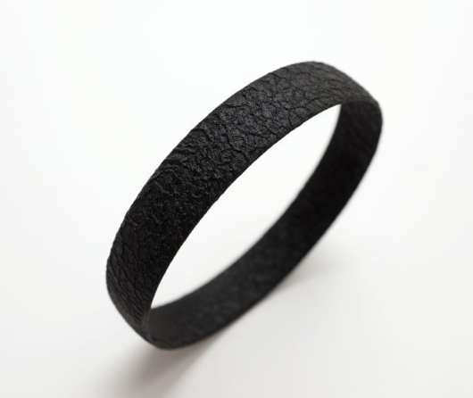 Margaret Jacobs Textured Black Cuff Bracelet