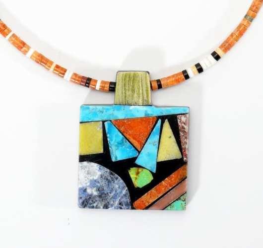 Mary Tafoya Rectangular Necklace 2