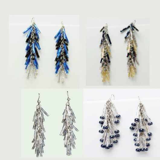 Decontie & Brown Feather earrings