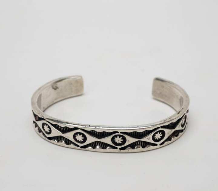 Vintage Navajo deep stamped bracelet