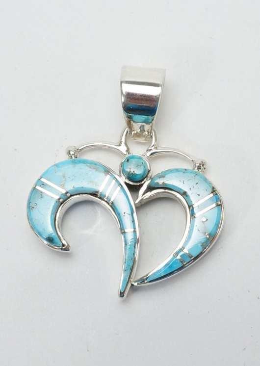 Earl Plummer Turquoise Butterfly Pendant