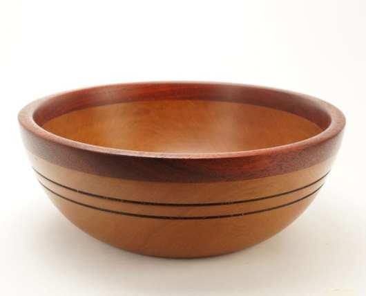 Dewey Owle cherry-padauk bowl