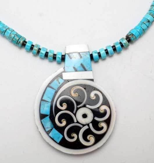 Mary Tafoya flower swirl plus necklace