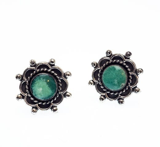 sterling silver turquoise clip-on earrings