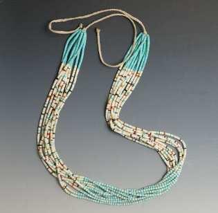 Mary Tafoya Ten Strand Heishi Necklace