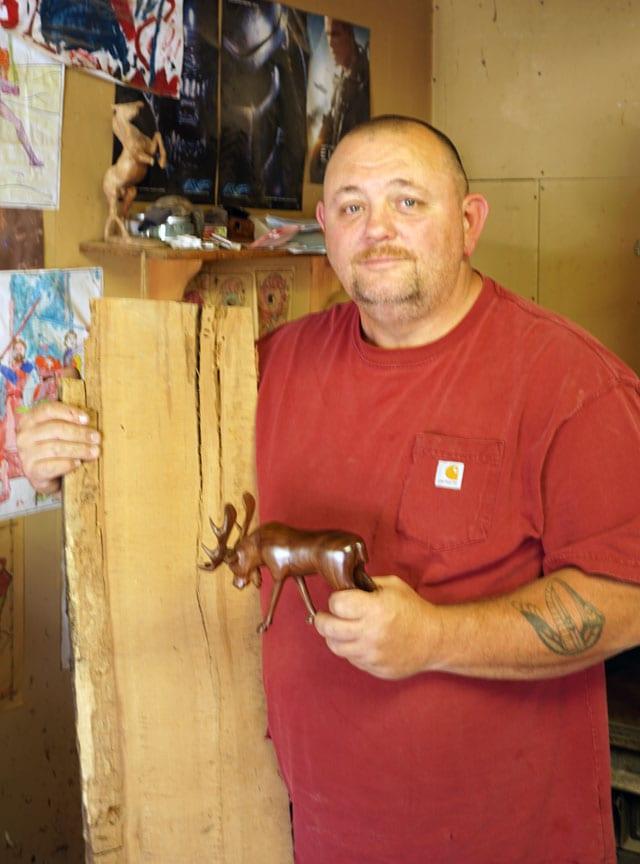 Robbie Craig, Cherokee wood carver