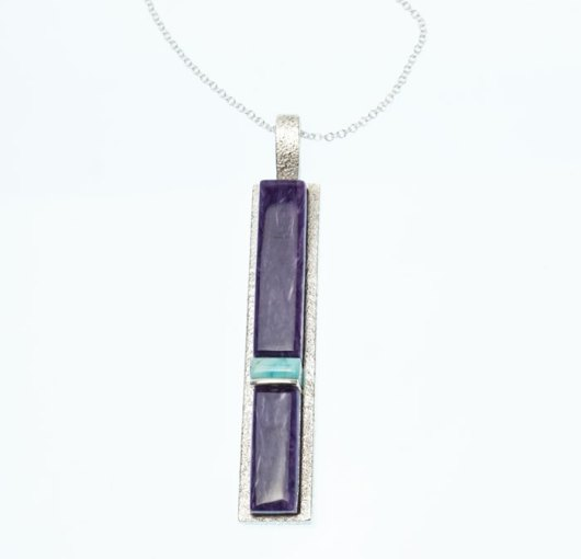 Decontie & Brown Charoite-Turquoise-Pendant