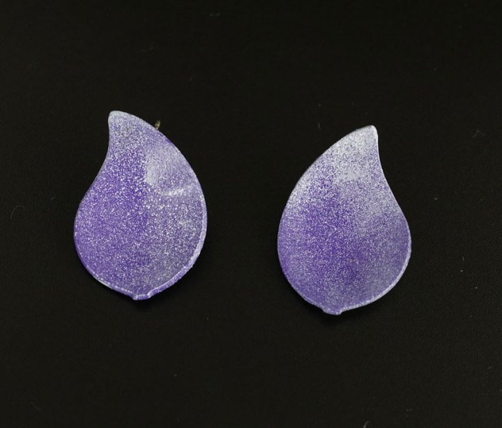 Margaret Jacobs Purple Teardrop Powder Coated Earrings