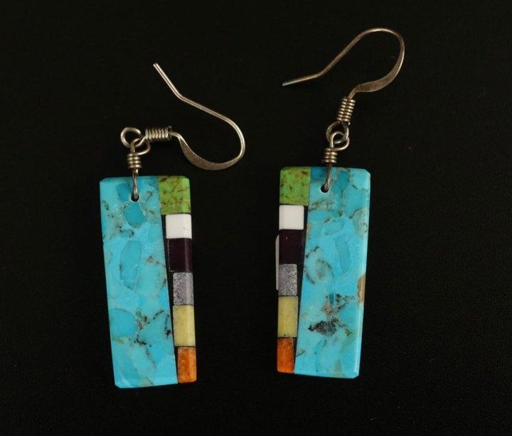 Mary Tafoya Side Mosaic Earrings 6