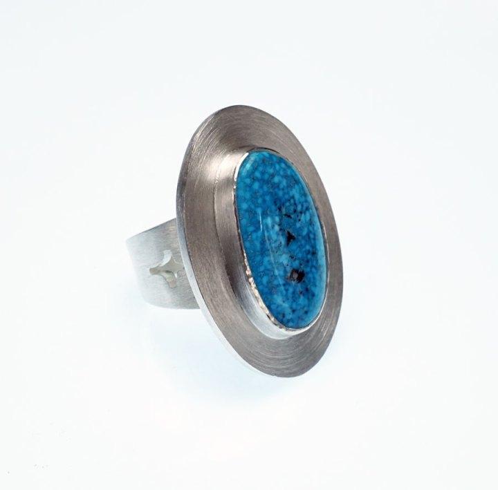 Amelia Joe-Chandler Oval Turquoise Ring