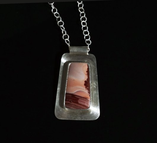 Amelia Joe-Chandler Picture Jasper Mountains Necklace
