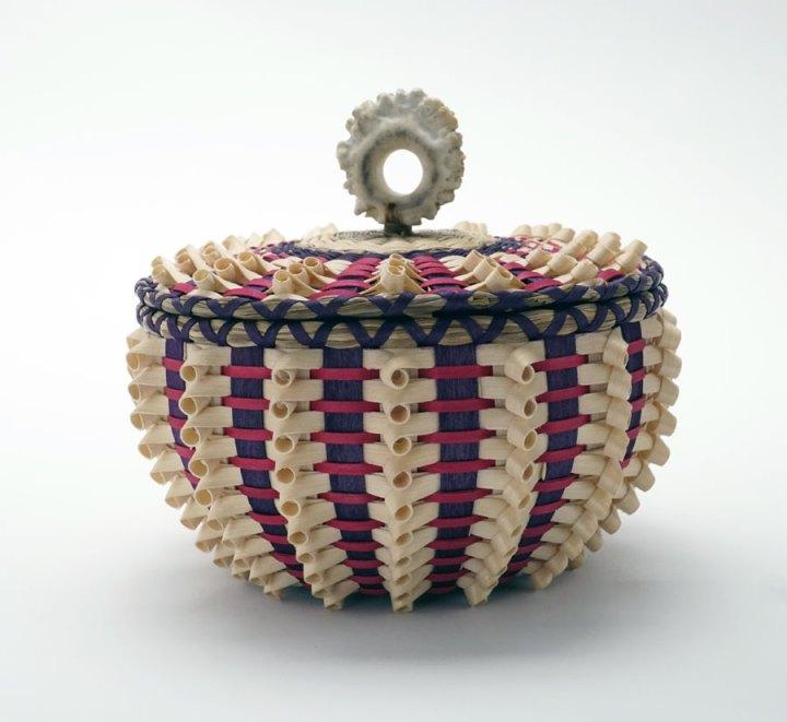 Sarah Sockbeson Pink-Purple Curl Basket