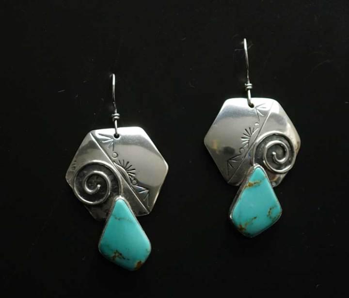 Cheryl Arviso Journey of Life Earrings with Kingman Turquoise