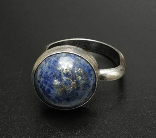 Margaret Jacobs Sterling Silver Lapis Lazuli Ring