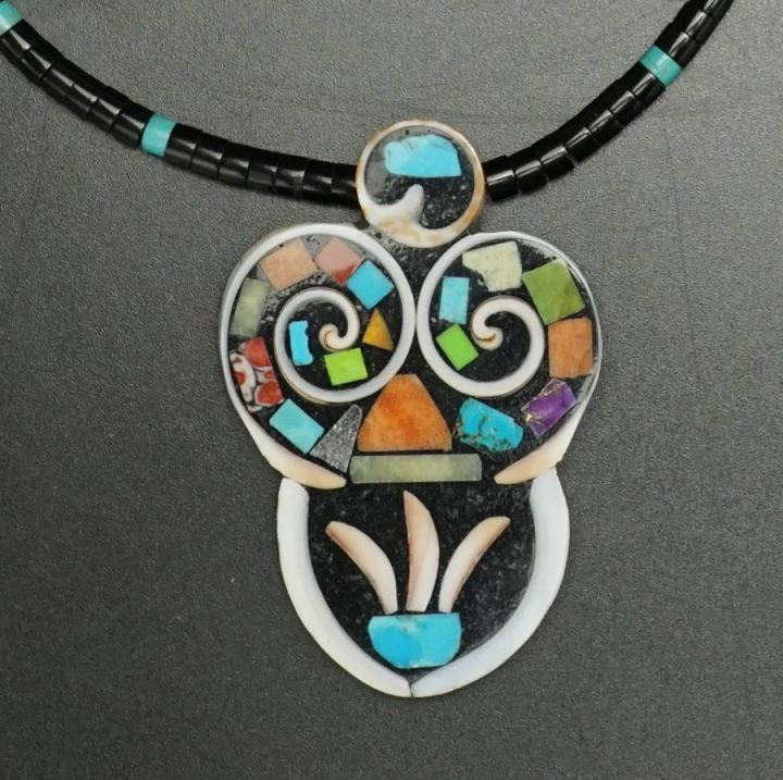 Mary Tafoya Mosaic Necklace 10