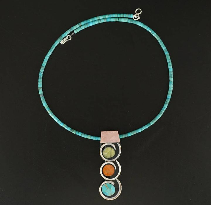 Mary Tafoya Triple Disc Necklace