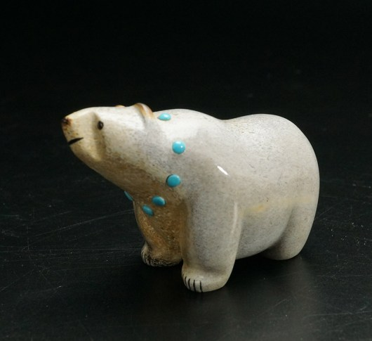 Gabe Sice Zuni Carving Walking Bear 1 Native American Art