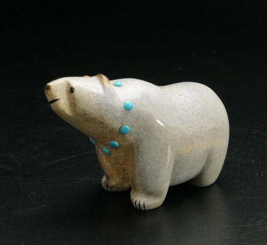 Gabe Sice Zuni Carving Walking Bear 1 Native American Art
