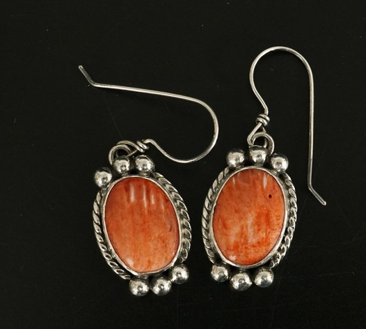 Native American Jewelry Cheryl Arviso Spiny Oyster Shell Earrings