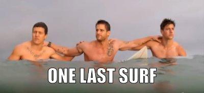 One last surf