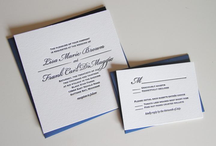 Typical Square Wedding Invitation Size New