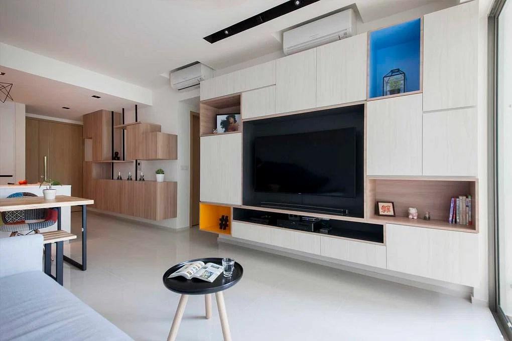Living Room Design Ideas: 7 Contemporary Storage Feature