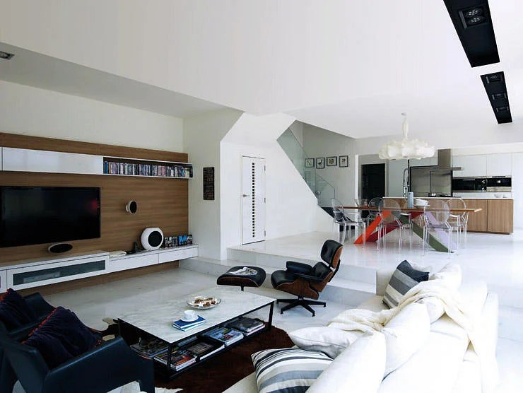 10 Elegantly Clean Cut TV Console And Feature Wall Design