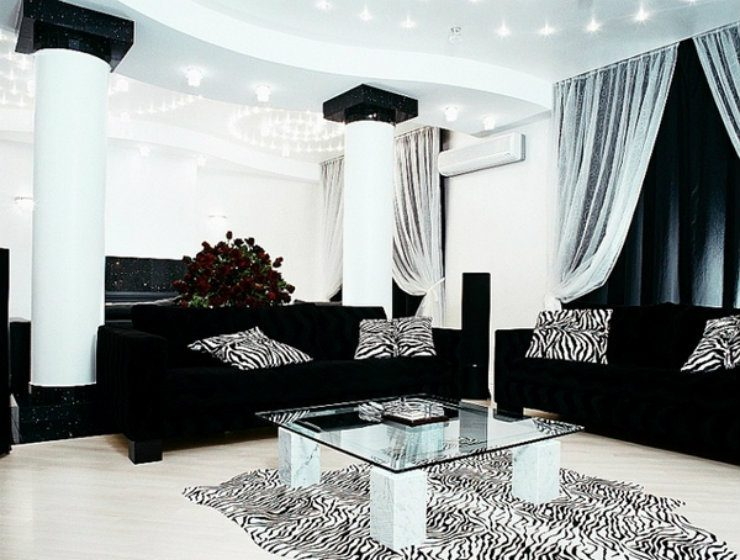 Black And Silver Living Room Inspirations Home And Decoration