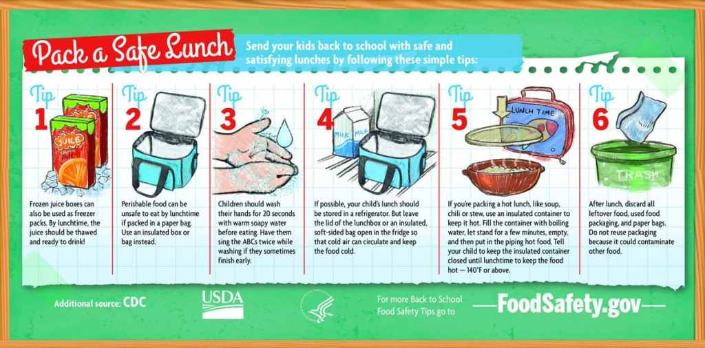 lunch bag food safety tips