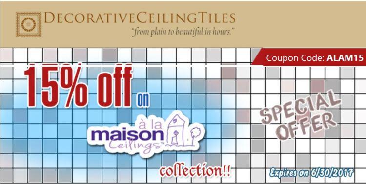 Decorative Ceiling Tiles Sale Coupon
