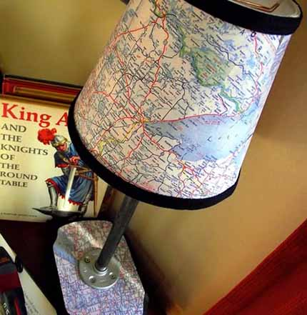 Make a Mod Podge Map Lamp