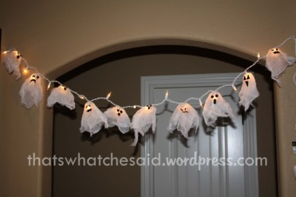 Cheescloth Ghost Lights
