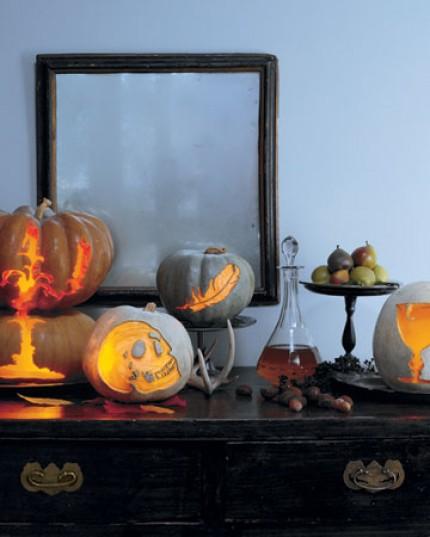 Etched Victorian Pumpkins