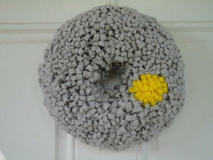 Gray Loopy Wreath