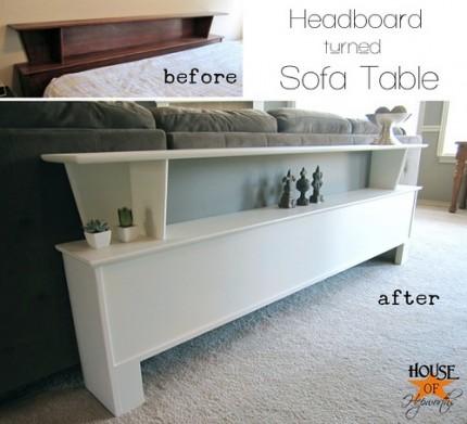Headboard Turned Sofa Table