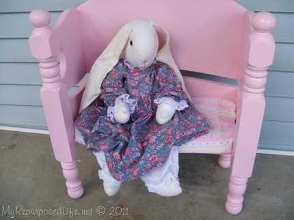 Toddler Doll Bench