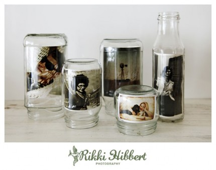 Glass Jar Photo Display