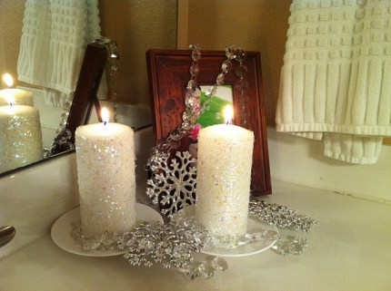 Ice Crystal Candles