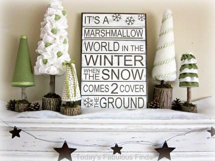 Marshmallow Wonderland Vignette