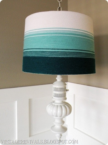 Yarn Ombre Lampshade
