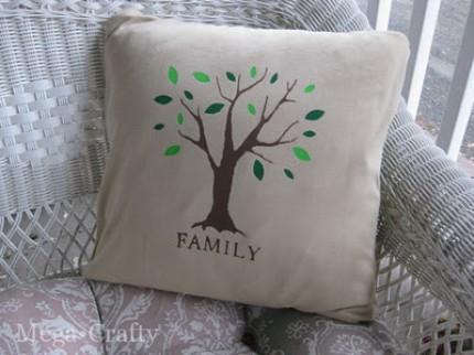 Customizable Family Tree Pillow