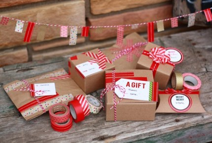 Washi Tape Gift Wrap Ideas
