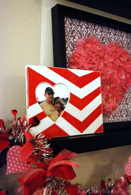 Chevron Heart Frame