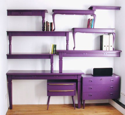 Recycled Furniture Desk and Shelves