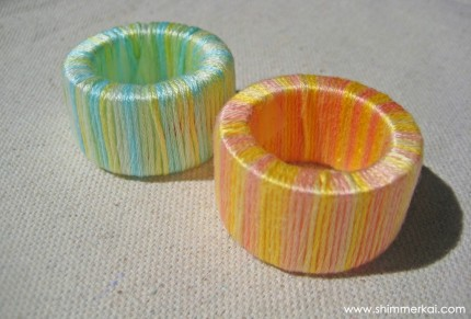 Ombre Napkin Rings