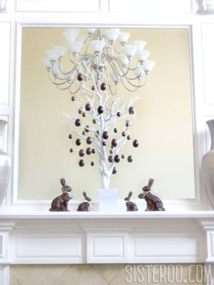 Faux Milk & Dark Chocolate Easter Tree