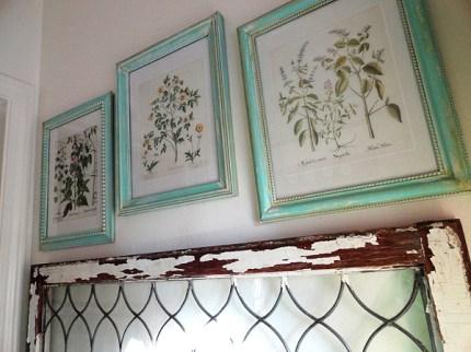 Faux Paint Peel Aged Frames