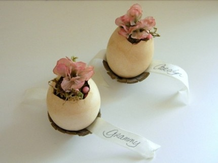 Victorian Egg Place Cards