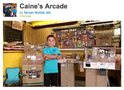 9 Year Old Builds Cardboard Arcade